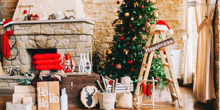 Presents Next to Christmas Tree